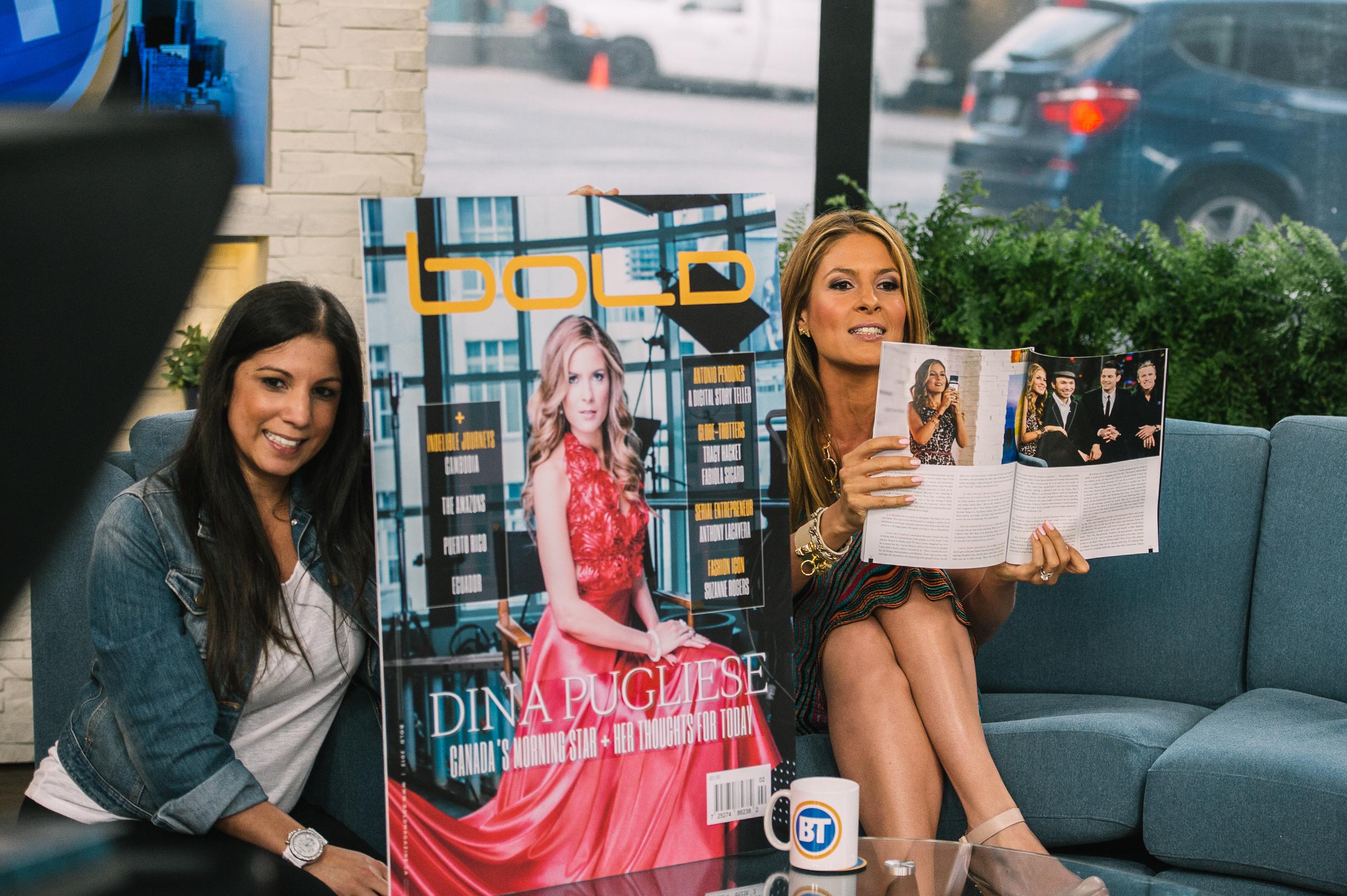 Dina Pugliese Breakfast Television BOLD magazine Tishan Baldeo