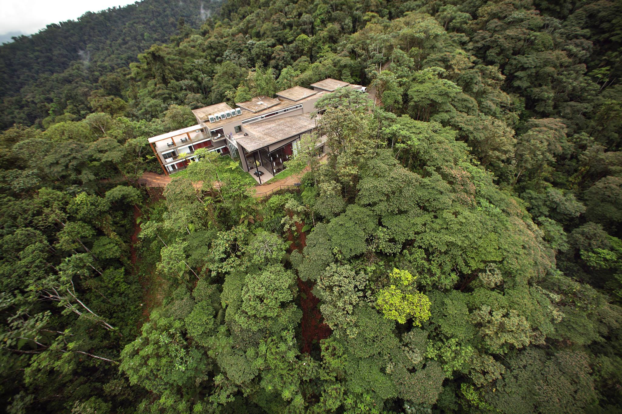Mashpi Lodge View from Above.