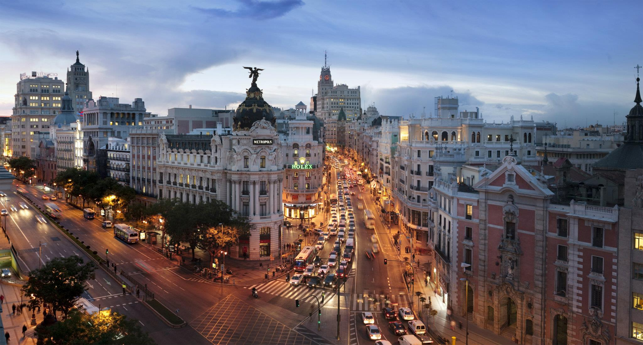 Gran Vía, Madrid City.