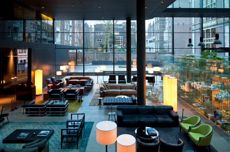 The lobby pays homage to the building's impressive history while maintaining a contemporary feel; and serves as the perfect springboard for exploring nearby museums such as the Van Gogh Museum and the Rijksmuseum.