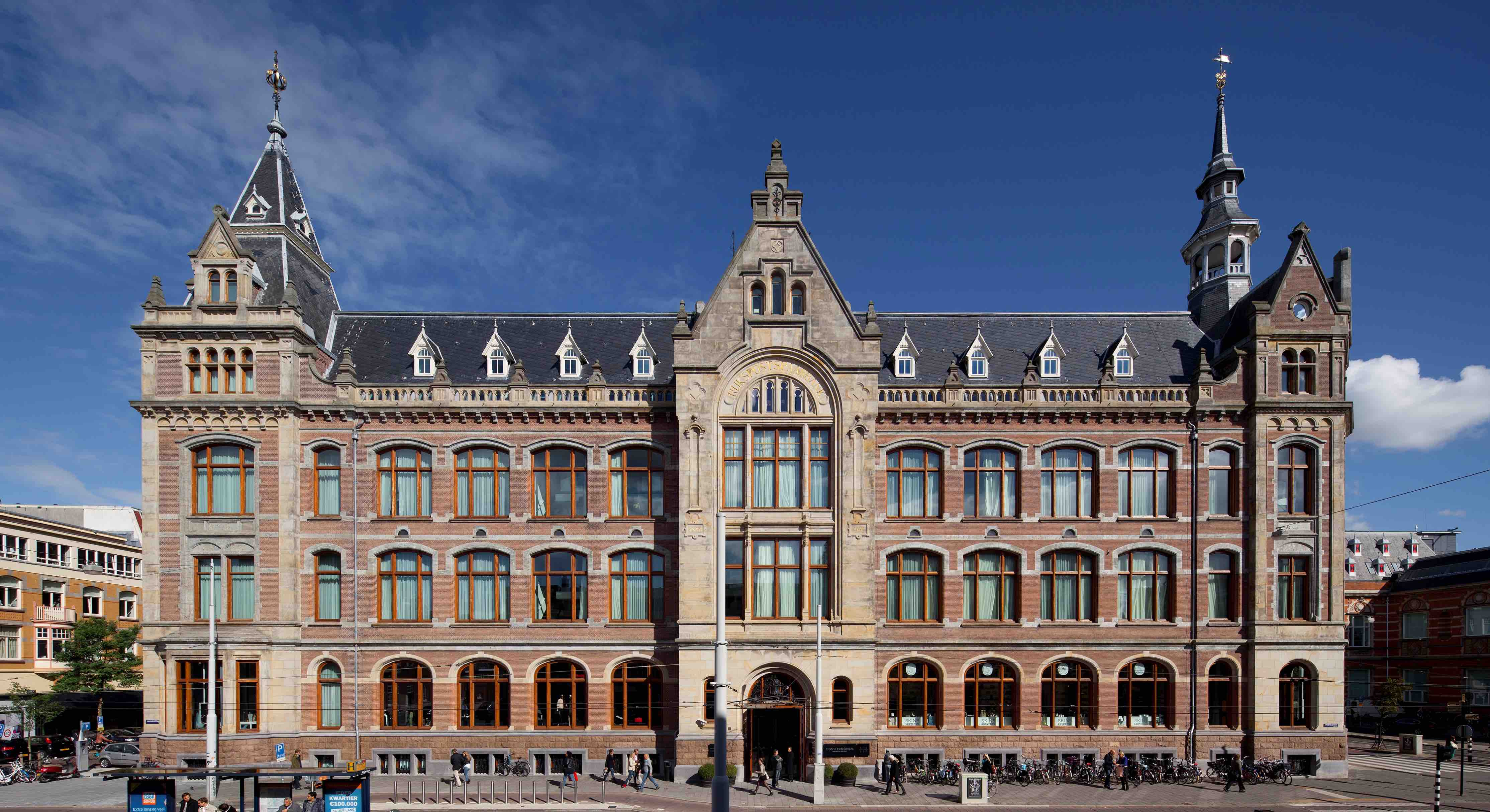 Standing on the landmark site of Amsterdam's former Sweelinck Conservatory of Music, the Conservatorium hotel in Amsterdam opened at the end of 2011. This magnificent Neo-Gothic building was originally designed by Daniel Knuttel in the 19th Century and in its new incarnation, it has been transformed into a contemporary luxury lifestyle hotel by the award-winning Italian architect Piero Lissoni.