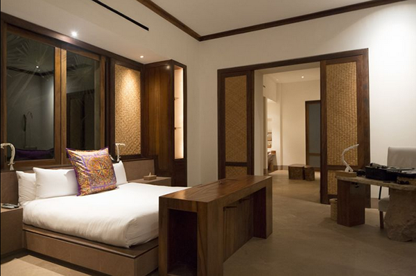 Spacious bedroom at Imanta