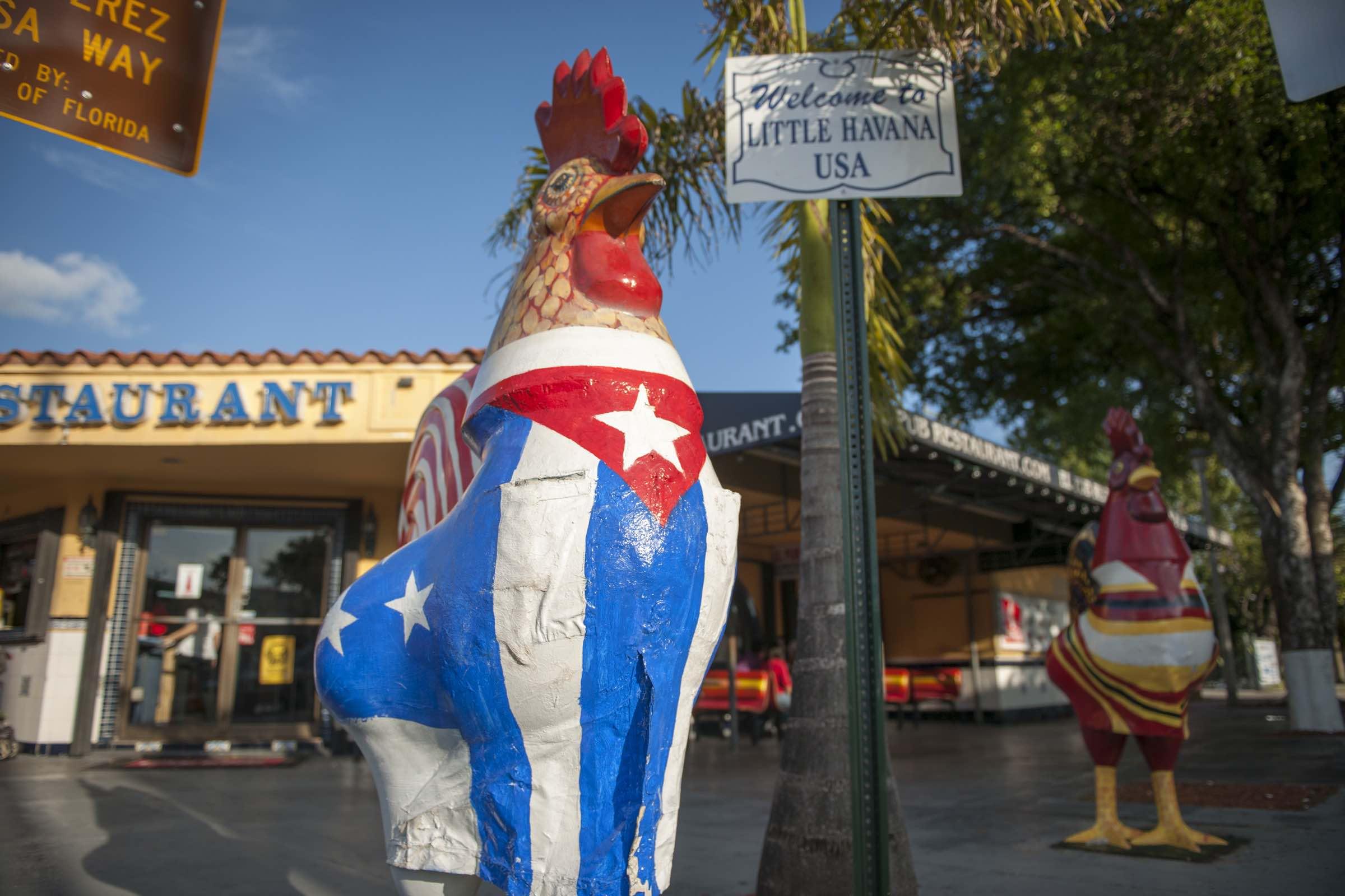 Little Havana Roaster Sculptures. // © 2015 Greater Miami Convention & Visitors Bureau