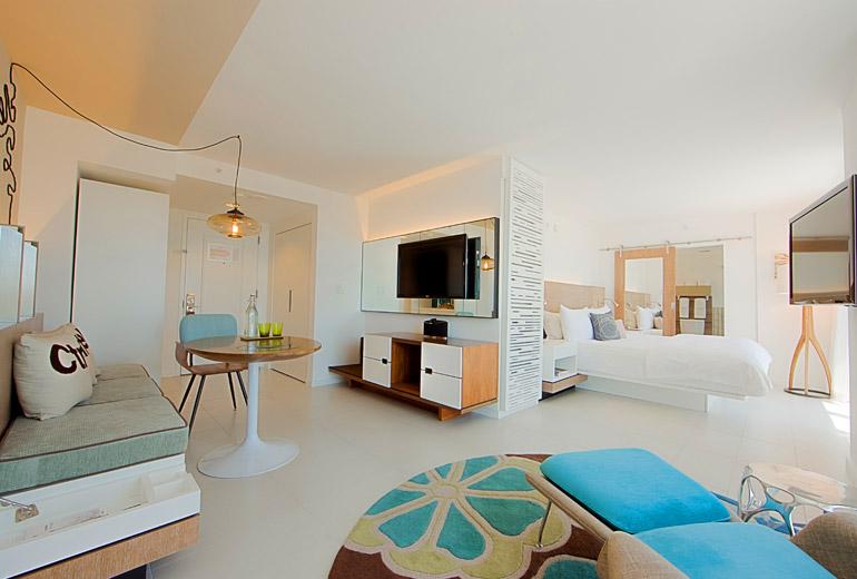 A room at the James Royal Palm. Credit The James Royal Palm