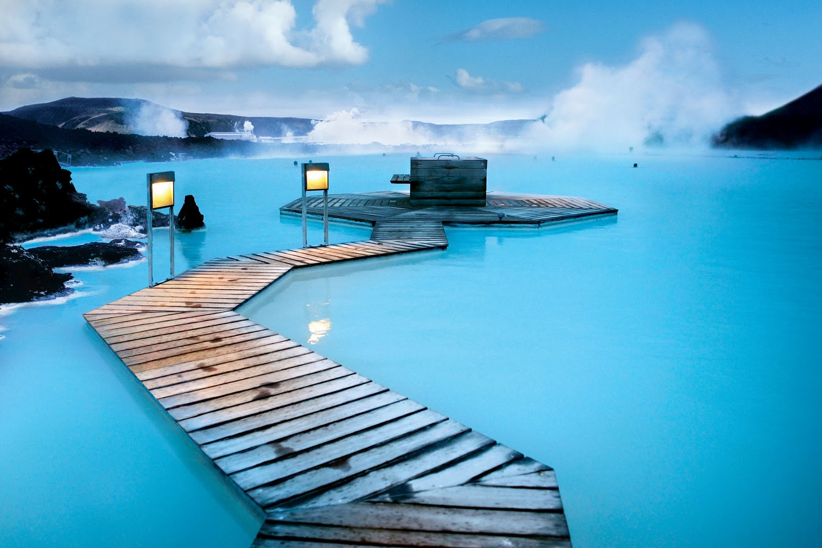 Spectacular view of the Blue Lagoon