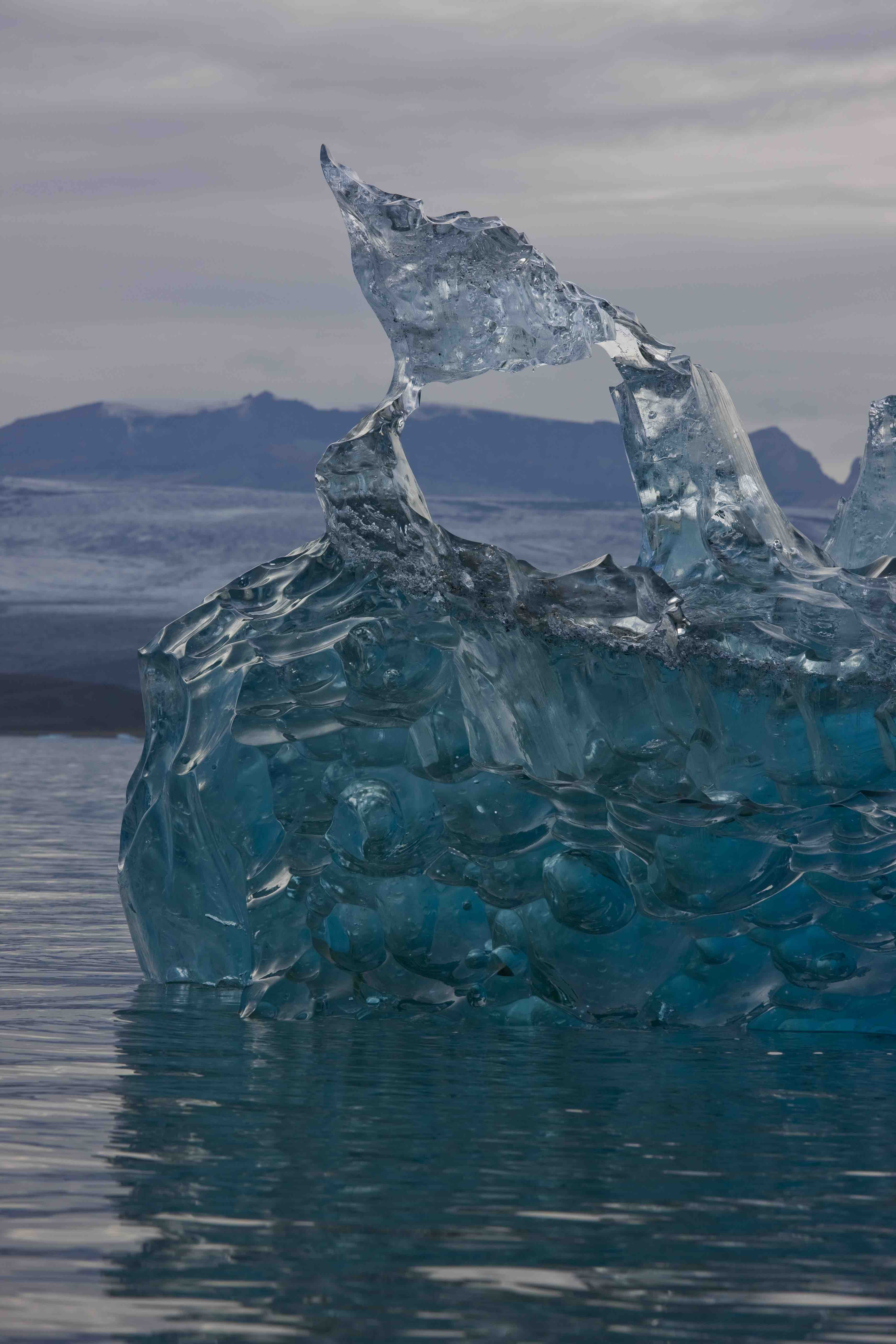 Ice sculptures in the Glacial Lagoon