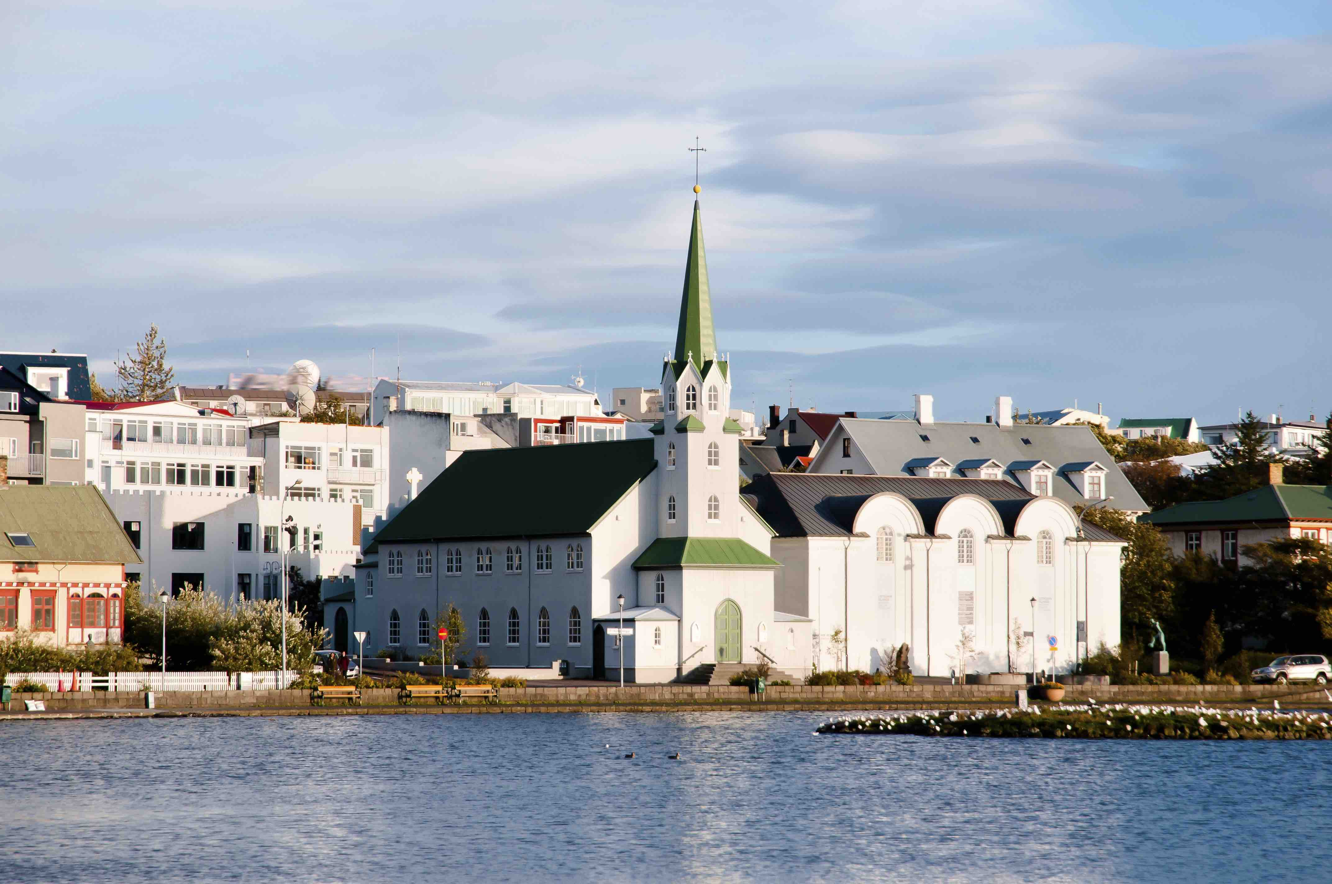 Reykjavik, seen from the old harbour.