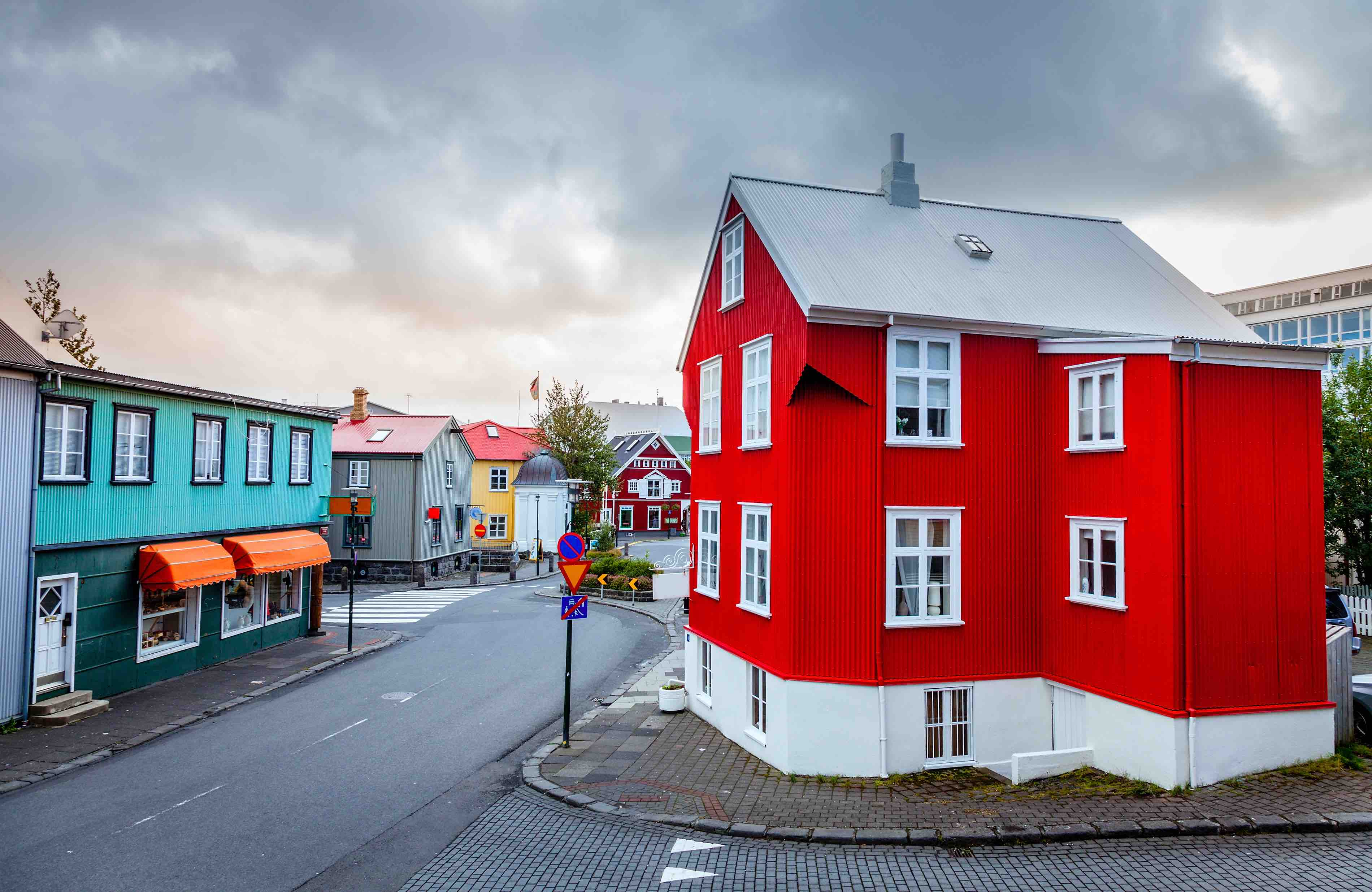 The colourful streets of Reykjavik