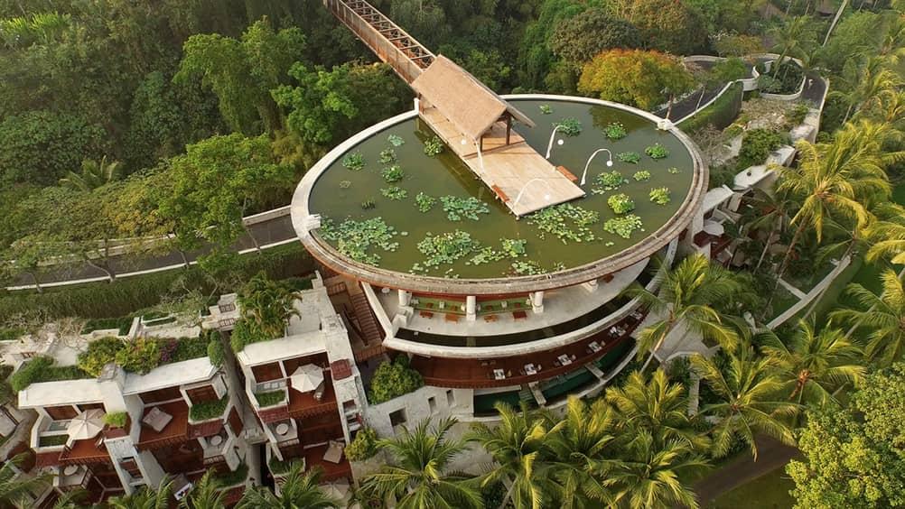 Aerial View of the Four Seasons Bali at Sayan