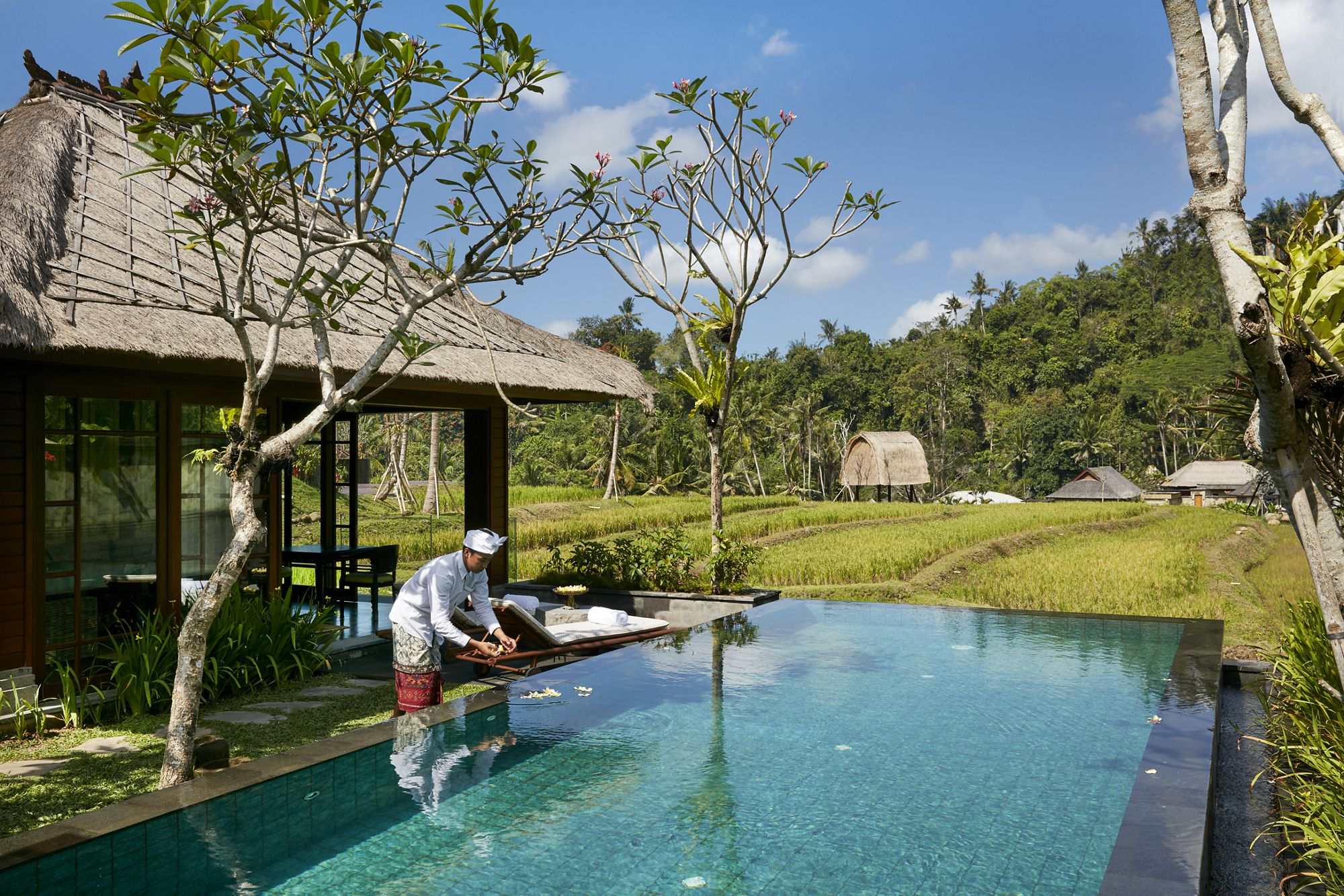 One bedroom, rice field  villa with swimming pool, Mandapa, a Ritz Carlton Resort.