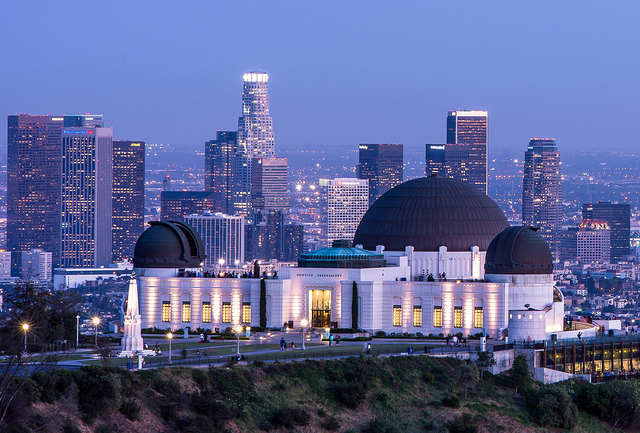 Nighttime Los Angeles by Nancy Dushkin