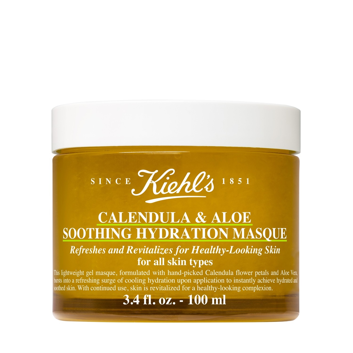 Healing Power - Kiehls' Calendula & Aloe Soothing Hydration Face Mask<br />