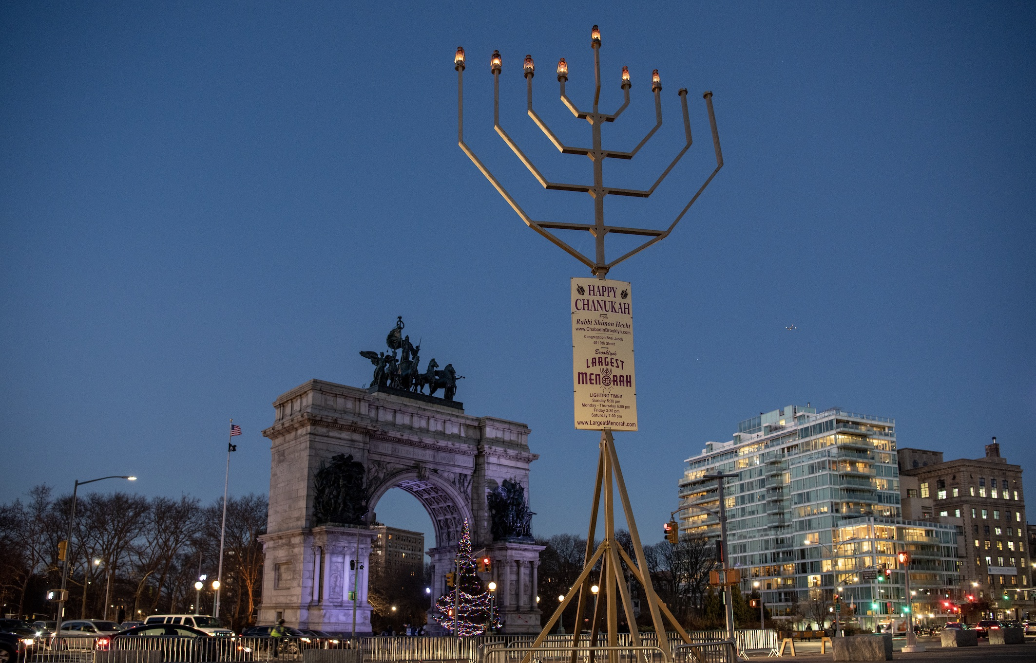 2. Lighting of the Largest Menorah in Brooklyn and Lighting of the World's Largest Menorah: Manhattan