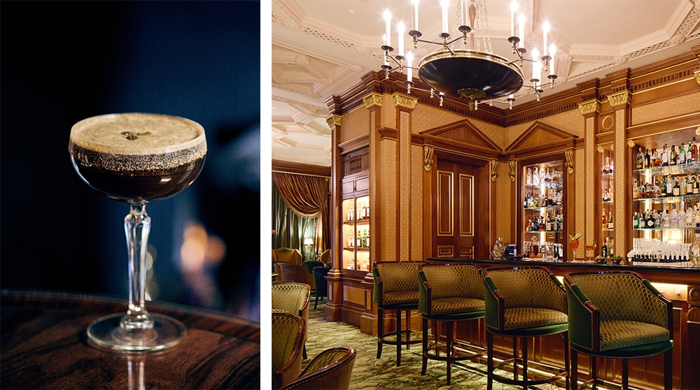 01. THE ESPRESSO MARTINI<br /> BY THE LIBRARY BAR AT THE LANESBOROUGH, LONDON: